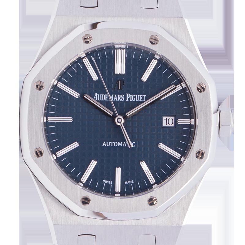 Audemars Piguet Royal Oak Full Steel Blue Dial Self-Winding 41mm Watch 15400ST.OO.1220ST.03.A