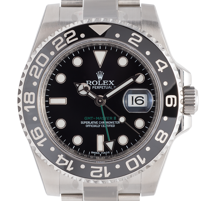 Rolex GMT-Master II Stainless Steel Black Dial And Bezel 116710LN