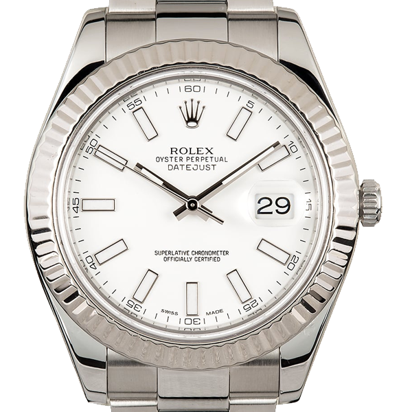 Rolex DateJust II 41mm Stainless Steel White Dial Oyster 116334