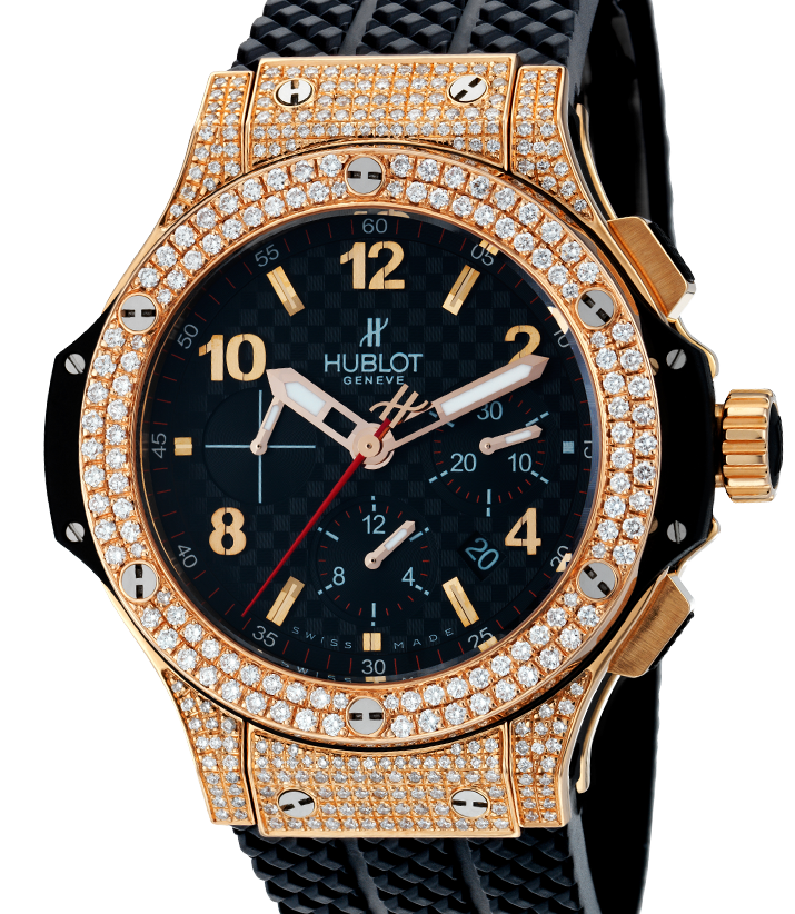 Hublot Big Bang 41mm Chronograph Rose Gold Diamond Set 341.PB.131.RX