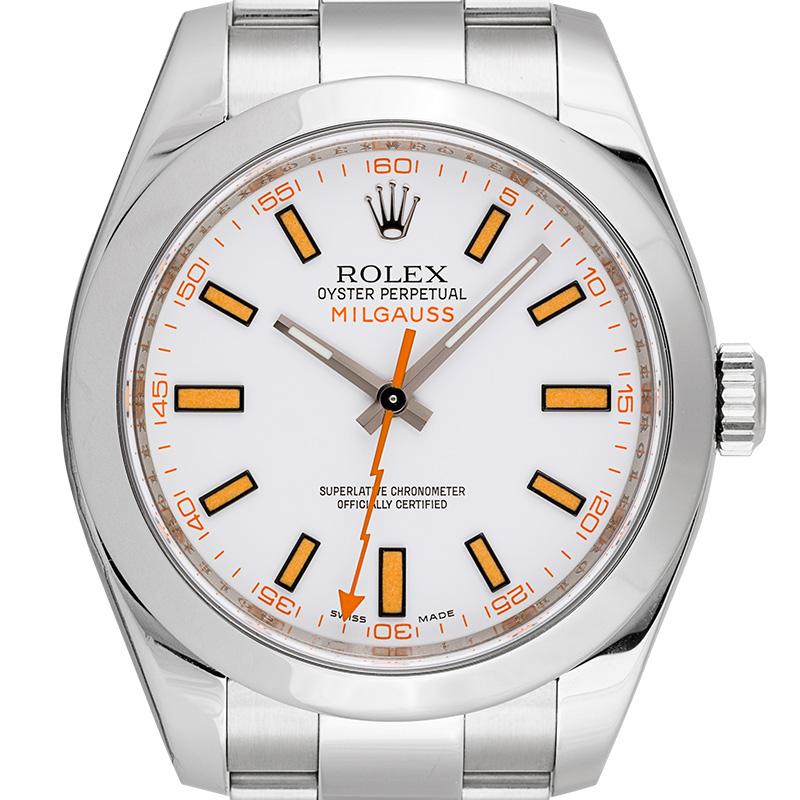 Rolex Milgauss Stainless Steel White Dial 116400