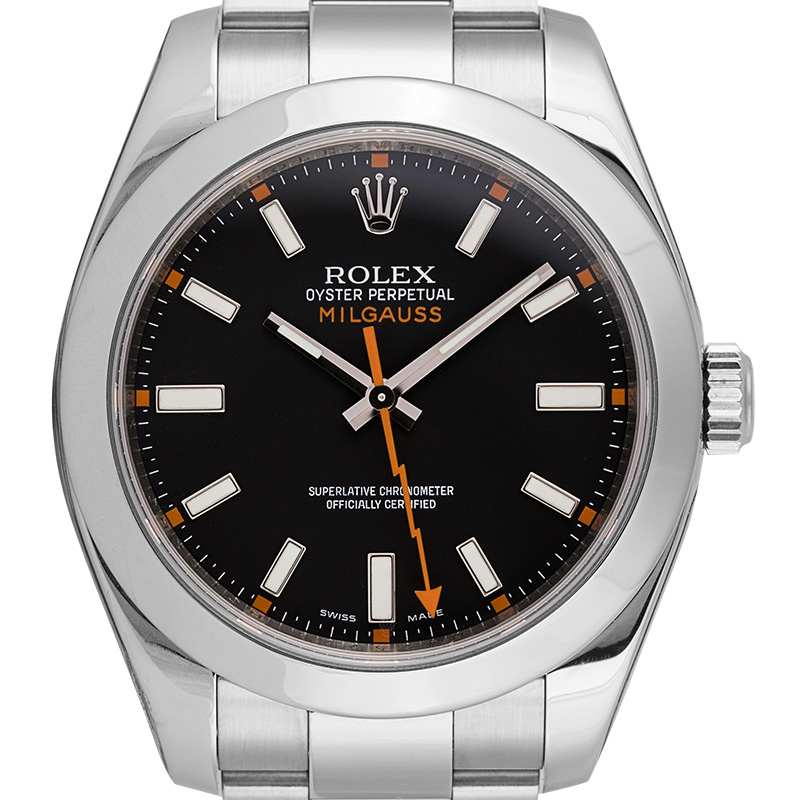 Rolex Milgauss Stainless Steel Black Dial 116400