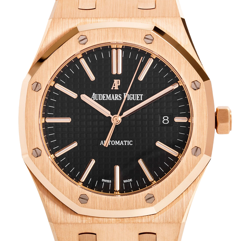 Audemars Piguet Royal Oak 18ct Rose Gold Black Dial 15400OR.OO.1220OR.01