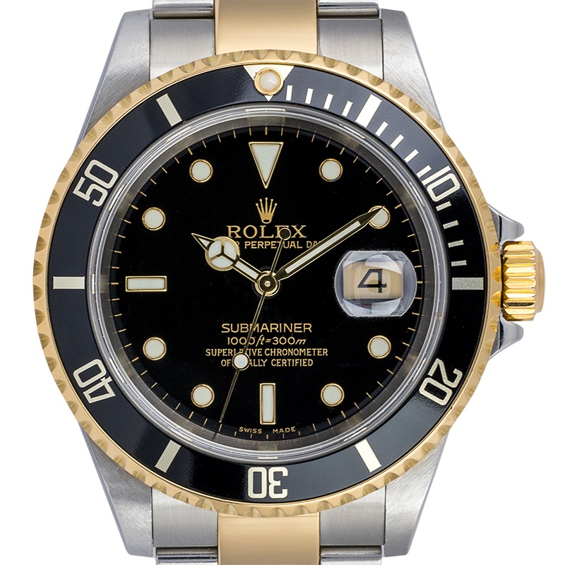 Rolex Submariner Date Gold/Steel Black Dial 16613