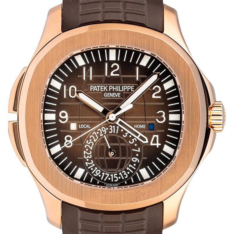 Patek Philippe Aquanaut Travel Time Rose Gold 5164R-001 Watch