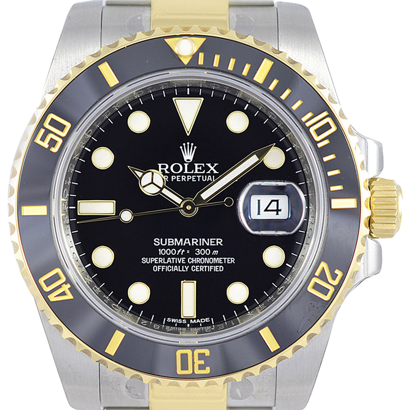 Rolex Submariner Steel&Gold Black Dial And Bezel 116613LN