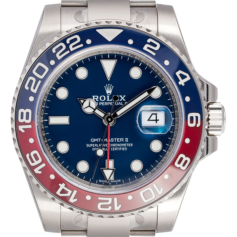 Rolex GMT-Master II 18ct White Gold Blue Dial 116719BLRO