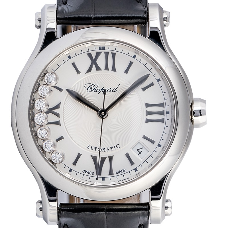 Chopard Happy Sport 36mm Stainless Steel 7 Moving Diamonds 278559-3001