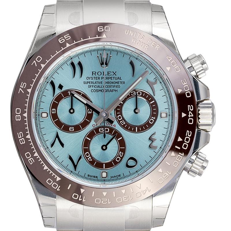 Rolex Daytona Platinum Ice-Blue/Hindu-Arabic Dial 116506