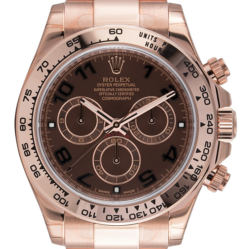 Rolex Daytona 18ct Everose Gold Chocolate/Arabic Dial 116505