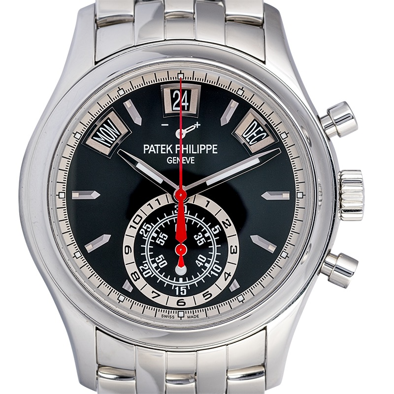 Patek Philippe Complications Steel Ebony Black Opaline Dial 5960/1A-010