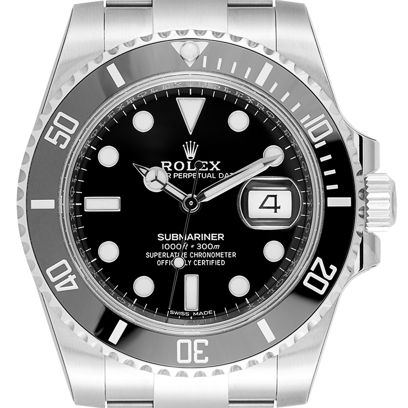 Rolex Submariner Stainless Steel Watch Black Dial 116610LN