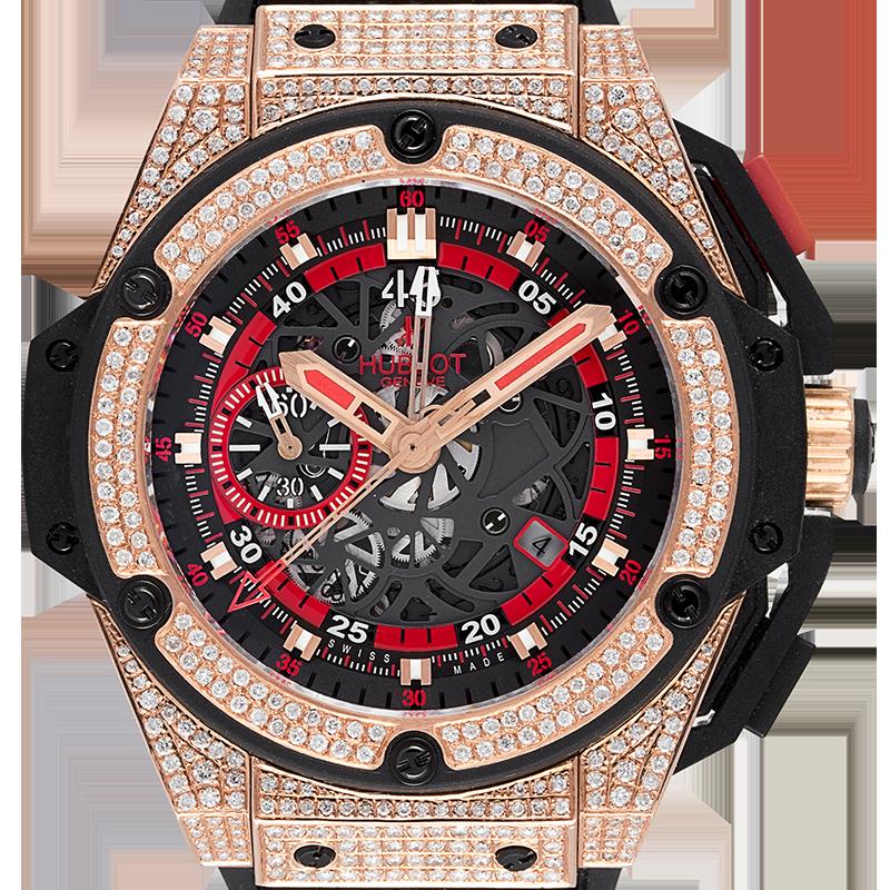 Hublot King Power UEFA Rose Gold Diamond Set Watch 716.OM.1129.HR.EUP12
