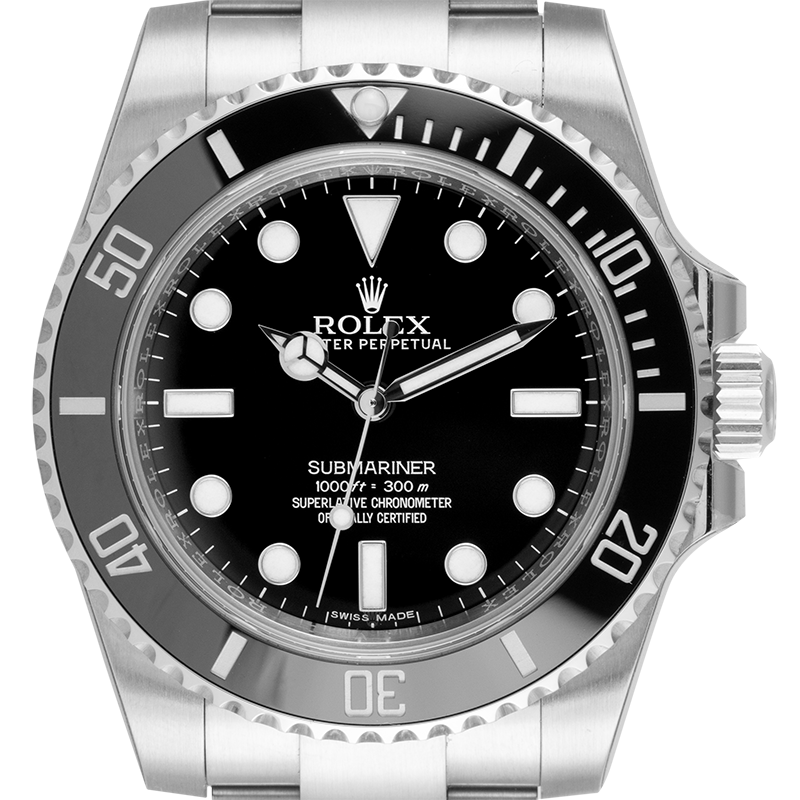 Rolex Submariner Stainless Steel Black/Index 114060