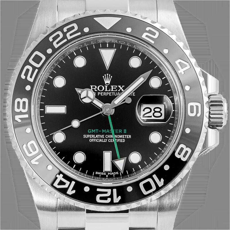 Rolex GMT-Master II Stainless Steel Black/index 116710LN