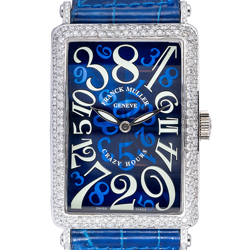 Franck Muller 1200 CH Long Island Crazy Hours White Gold