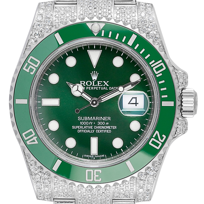 "Rolex Submariner Date ""Hulk"" Full Micro Setting 116610LV"