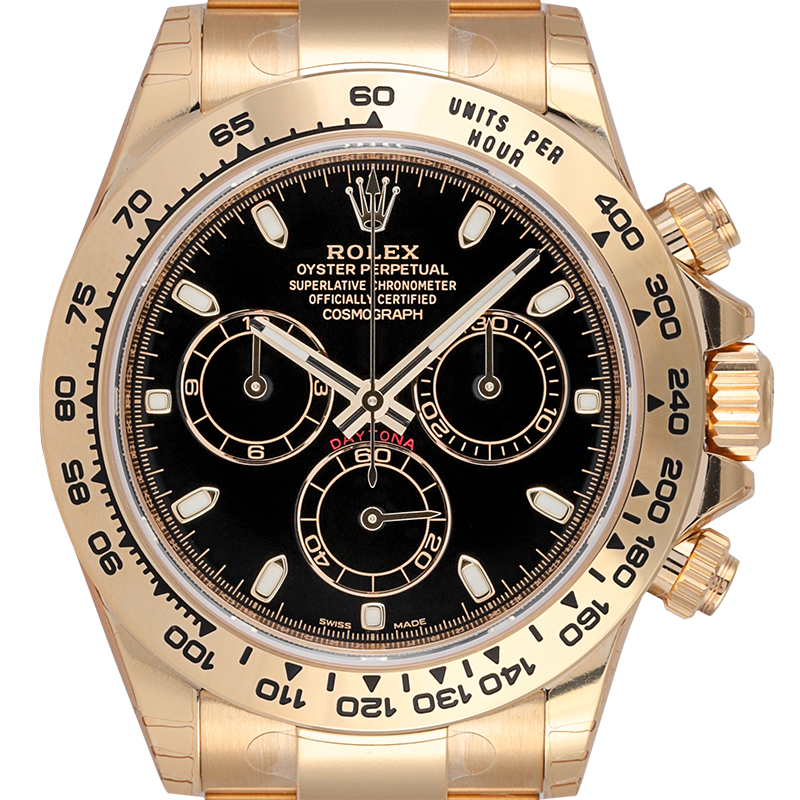 Rolex Cosmograph Daytona 18ct Yellow Gold Black Dial 116508