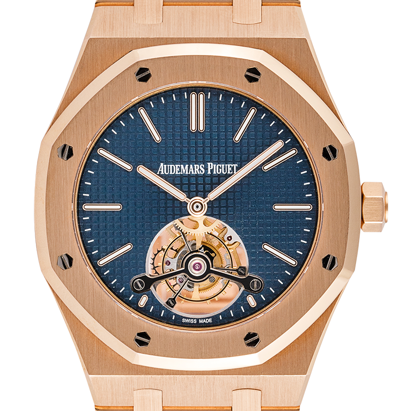 Audemars Piguet Royal Oak Tourbillon 41mm Extra-Thin Blue Dial 26510OR.OO.1220OR.01