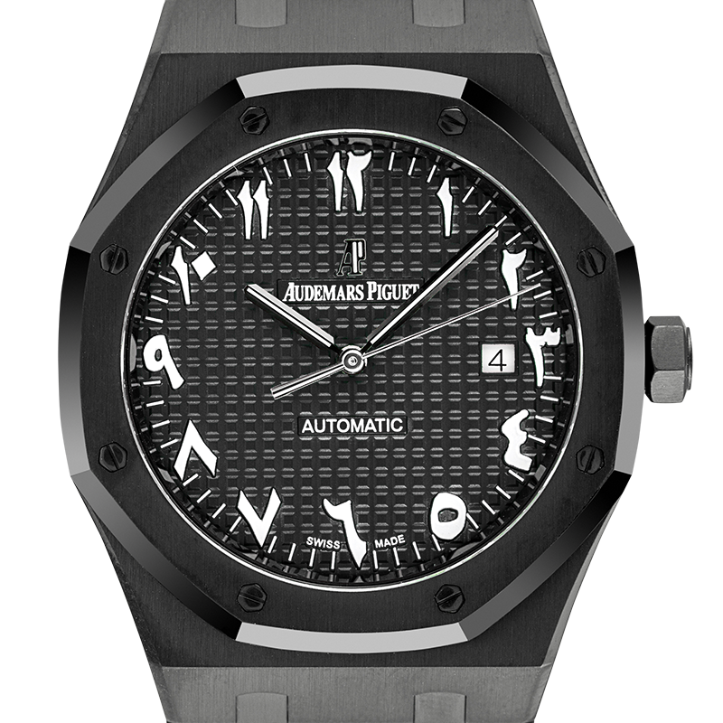 Audemars Piguet Royal Oak 41mm Custom Black PVD with Black/Indic Dial