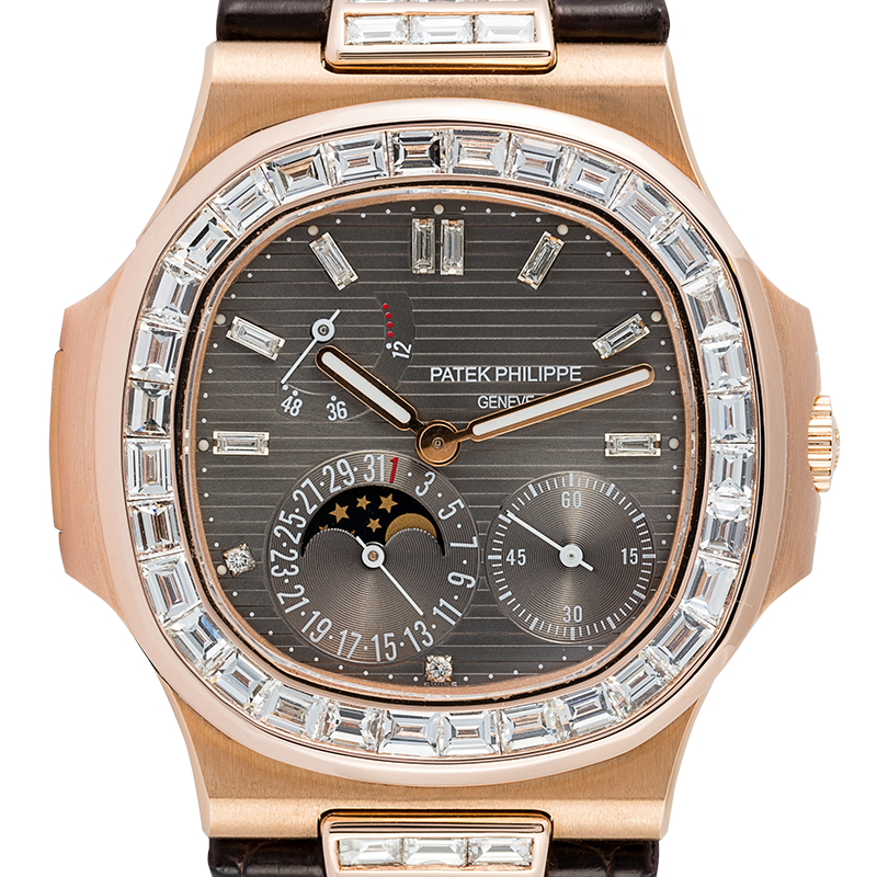 Patek Philippe Nautilus 5712R with Custom Diamond Kit