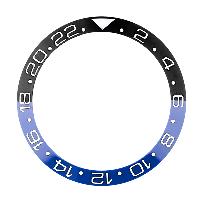 Custom Bezel Insert for Rolex GMT-Master II Blue/Black