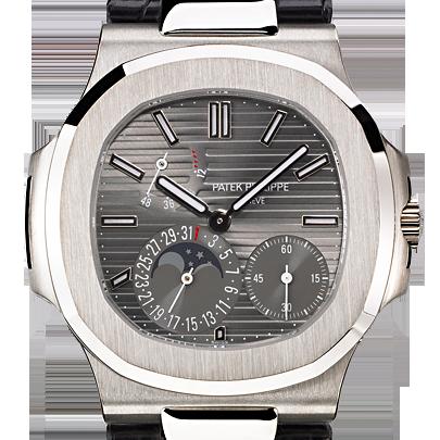 Patek Philippe Nautilus White Gold & Leather 5712G-001
