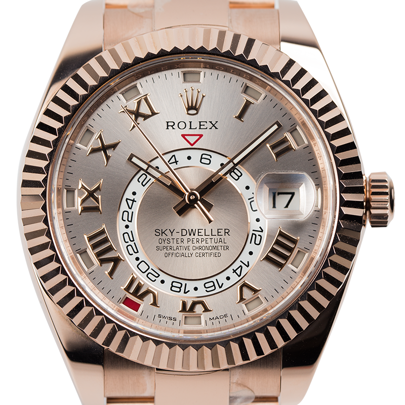 Rolex Sky-Dweller Full Rose Gold Sundust/Roman 326935