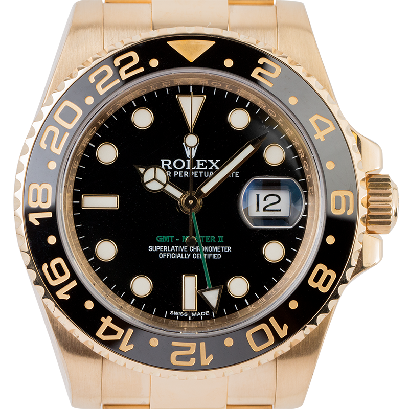 Rolex GMT-Master II 18ct Full Yellow Gold 116718LN