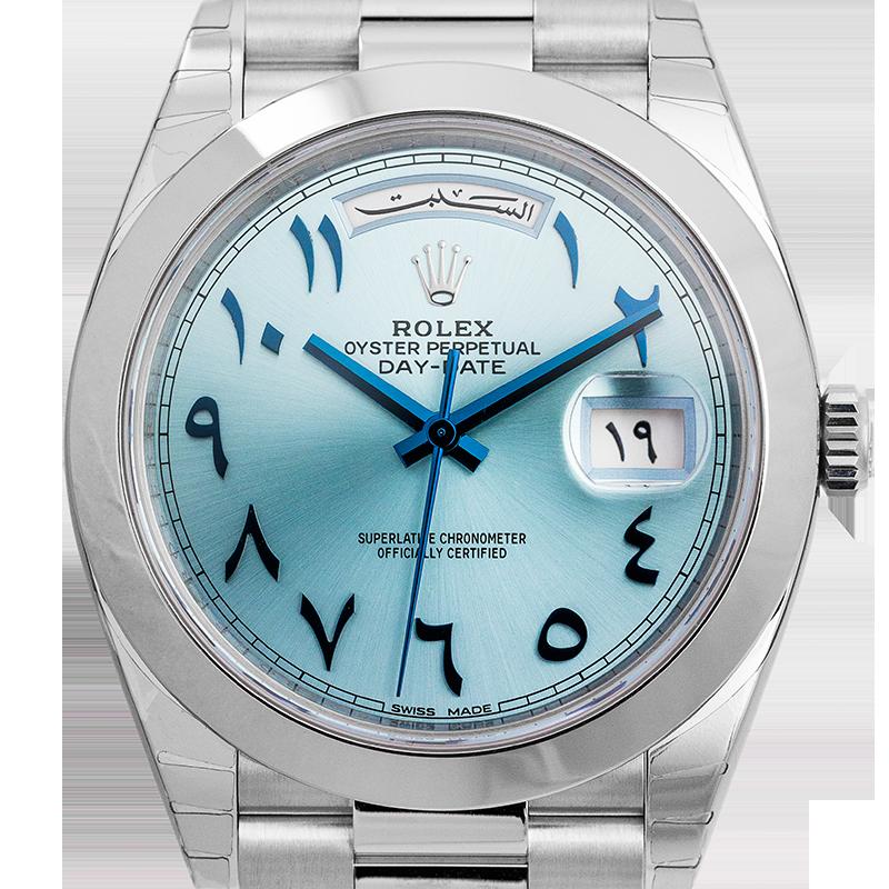 Rolex Day-Date 40 Platinum Arabic Script Watch 228206