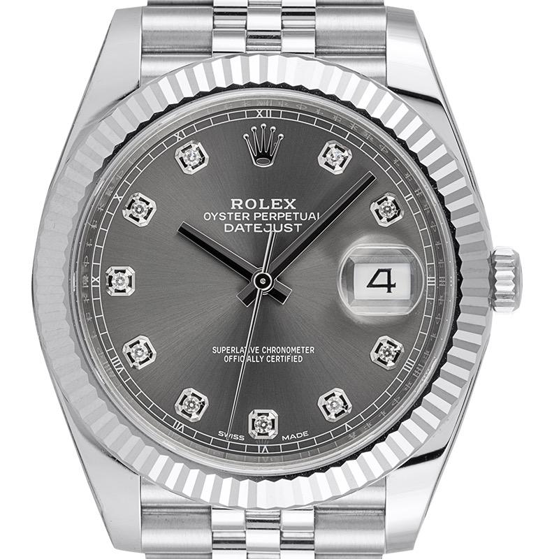 Rolex Datejust 41 Rolesor Dark Rhodium/Diamonds Jubilee 126334