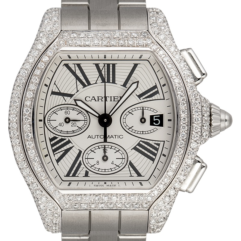 Cartier Roadster Chronograph XL Custom Diamond Set W62019X6