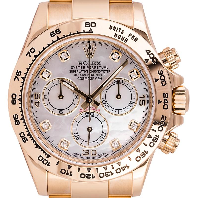 Rolex Daytona 18ct Yellow Gold MOP/Diamonds Dial 116508