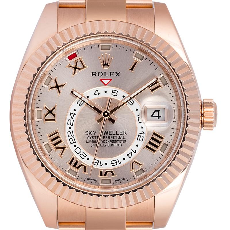 Rolex Sky-Dweller 18ct Everose Gold Sundust Dial 326935