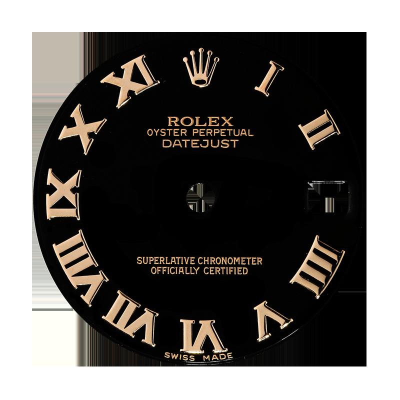 Rolex DateJust 31mm Black/Gold Roman Numeral Original