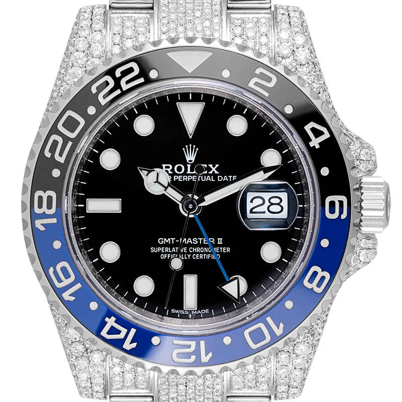 Rolex GMT-Master II Stainless Steel Full Diamond Set 116710BLNR