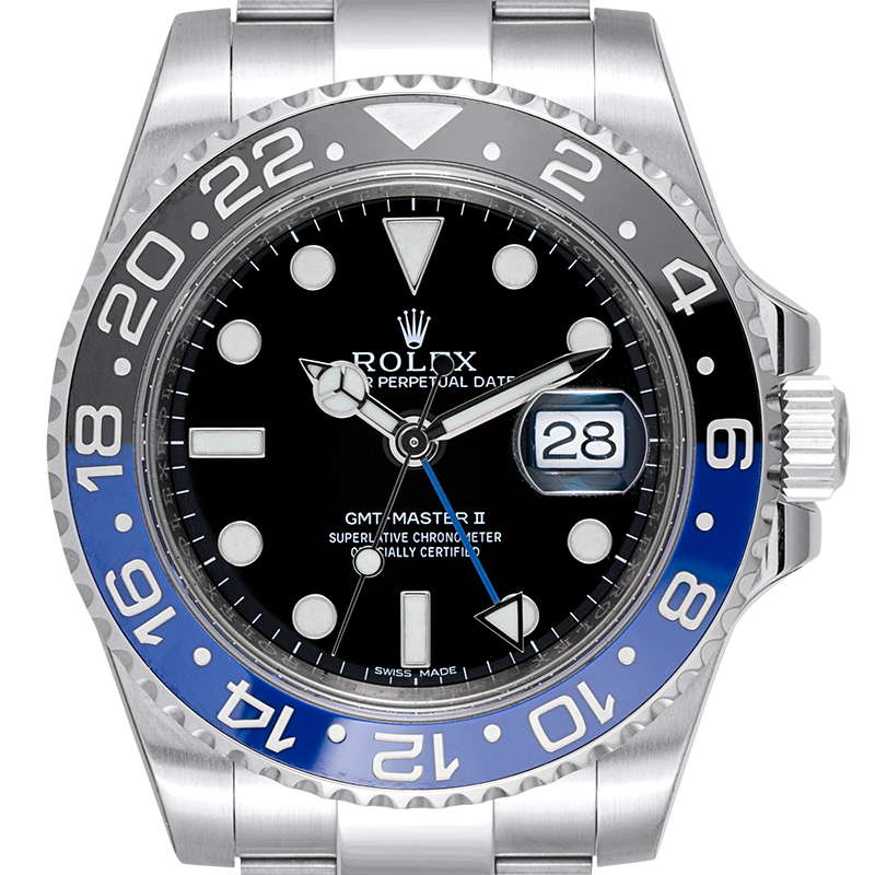 "Rolex GMT-Master II Stainless Steel ""Batman"" 116710BLNR"