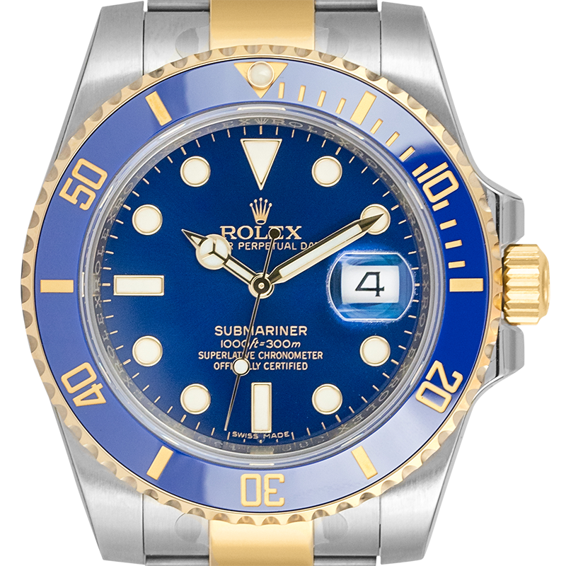 Rolex Submariner Date 18ct Yellow Gold and Stainless Steel Blue/indexes 116613LB