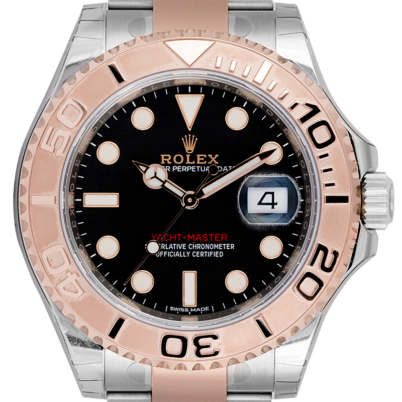 Rolex Yacht-Master 40 Steel and 18ct Everose Gold Black Dial 116621