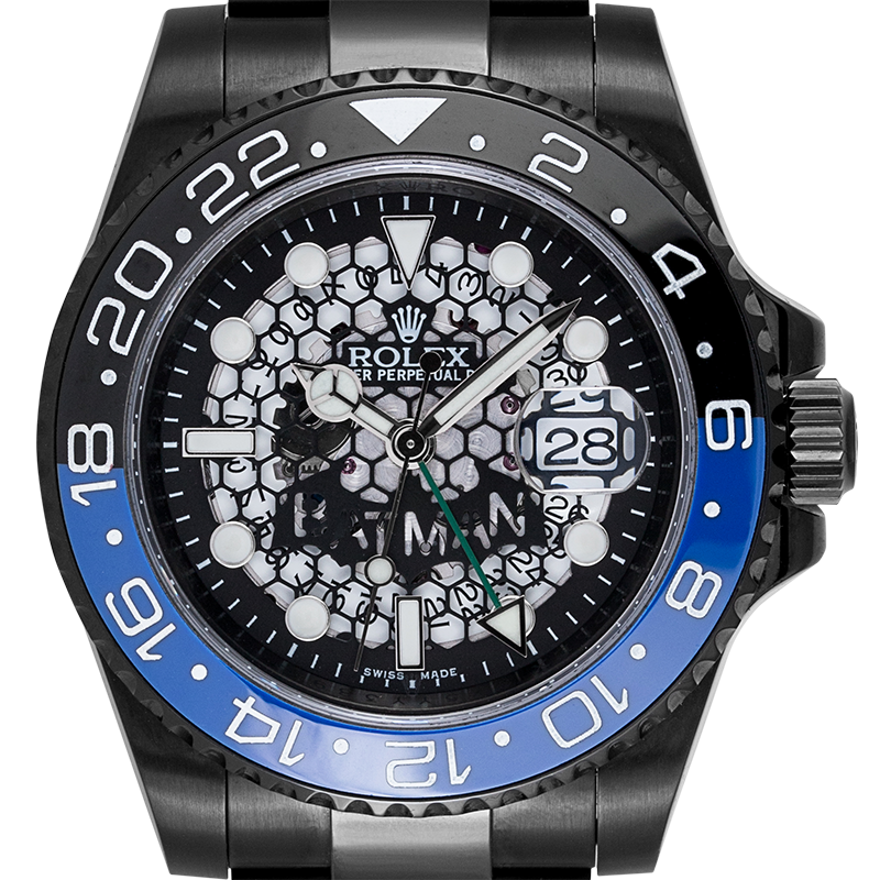 Rolex GMT-Master II Black PVD Custom Batman Watch 116710LN