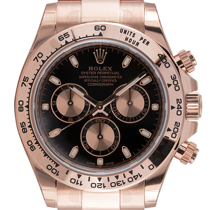 Rolex Cosmograph Daytona Everose Black-Pink/Index 116505