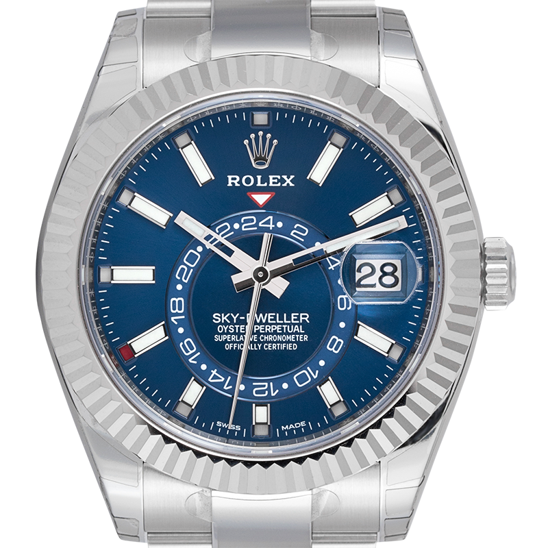 Rolex Sky-Dweller Stainless Steel and White Gold Blue Dial 326934