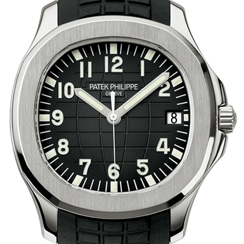 Patek Philippe Aquanaut 40mm Steel Black Embossed Dial Gold AppliedN umerals 5167A-001