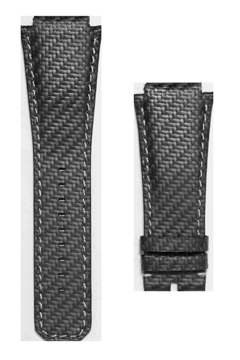 Audemars Piguet Royal Oak Offshore Black Carbon Fibre Custom Strap with White Stitching 42mm