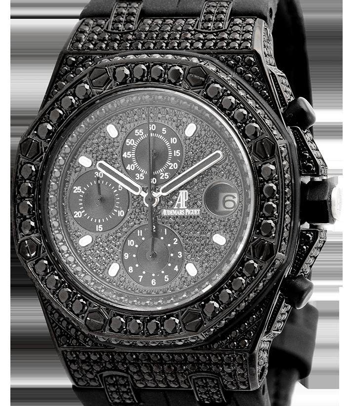 Audemars Piguet Royal Oak Offshore Black PVD Black Diamonds 25721ST.OO.1000ST.08