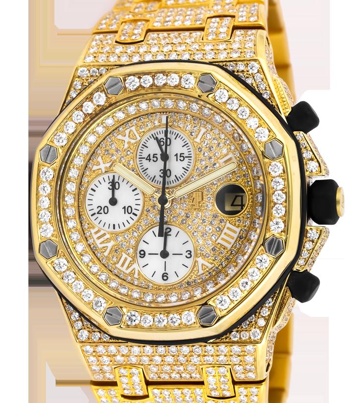 Audemars Piguet Royal Oak Offshore 42mm Yellow Gold Diamond Set  25721BA.OO.1000BA.03.A