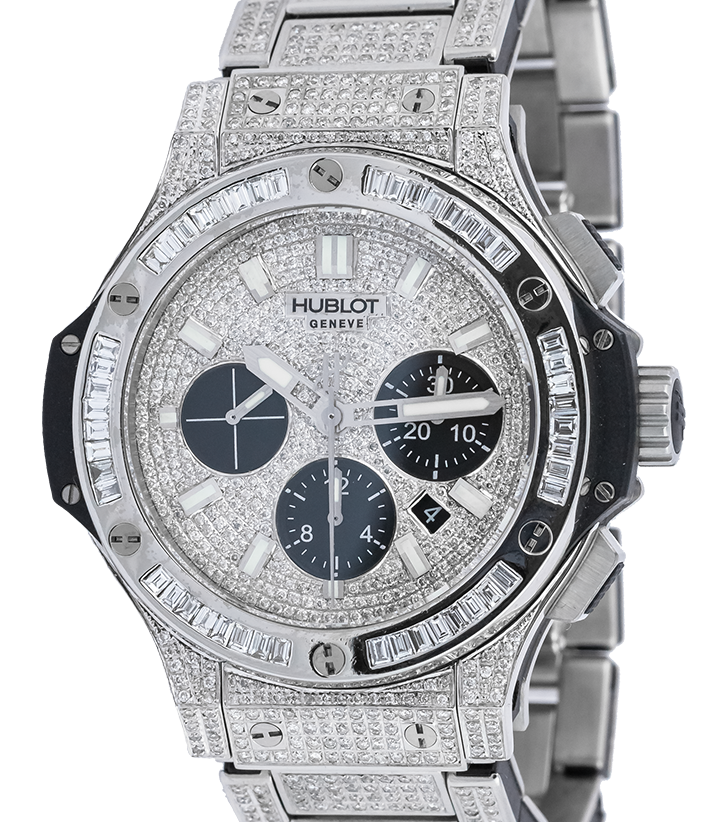 Hublot Big Bang Chronograph Evolution 44mm Steel Full Diamond Set 301.SX.1170.SX