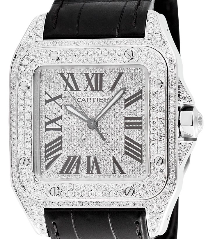 Cartier Santos 100 Large Diamond Set W20073X8