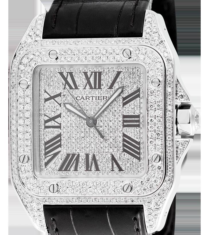 Cartier Santos 100 Large Diamond Set W20073X8
