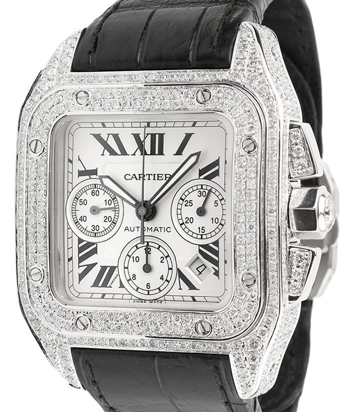 Cartier Santos 100 XL Chronograph Diamond Set W20090X8